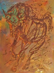 Horse                     Oil on canvas (1,20mX90cm)   Price 4000E