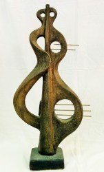 Music instruments 1    Stoneware - Inglish clay 1280C(60cmX30cmX11cm)        Front                    Price 600 E