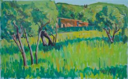 """High Grass"", oil on linen, 50x80cm  Price 1400 E"