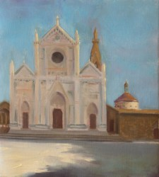 Facade of the Santa Groce Oil on canvas (45X50) 900E
