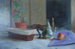 Still life in the rainy day                 Oil on canvas (40cmX60cm) 900E